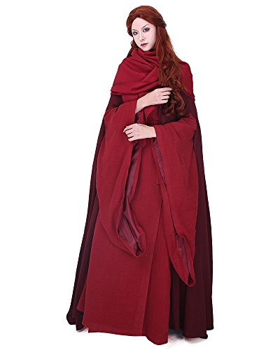 Miccostumes Women's Game of Thrones Melisandre of Asshai Cosplay Costume Dress Gown -