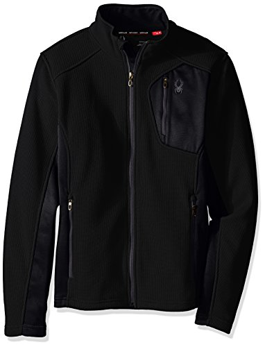 Endeavor Full Zip Jacket (Spyder Men's Bandit Full Zip Light Weight Stryke Fleece Jacket, Small, Black/Polar)