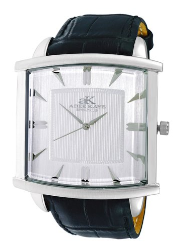 Watch Adee Kaye Men's Adore II-3G Watch Swiss Quartz Mineral Crystal AK2220-MSV AK2220-MSV