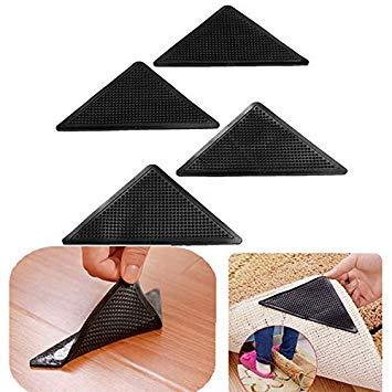 Bloomerang 4Pcs Anti Slip Coner Rubber Mat Trangle Non Slip Carpet Skid Grippers Rug