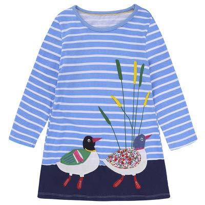 Fashspo Toddler Little Girl Dress Casual Cotton Unicorn