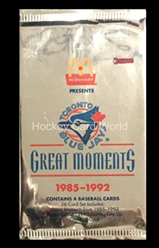 1993 Donruss McDonald's Toronto Blue Jays Baseball Hobby PACK - 1985-1992 (Card Donruss 1992)