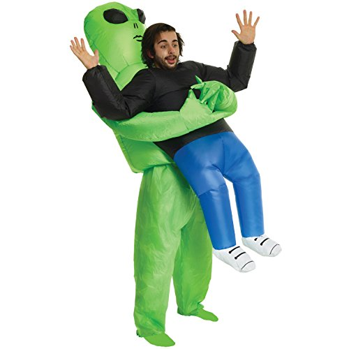 Scary Halloween Costumes For Two People (Alien Pick Me Up Inflatable Costume - Great Illusion Fancy Dress Outfit One size fits)
