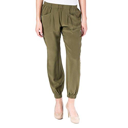 Walter Silk - Walter Baker Womens Hana Silk Tapered Leg Casual Pants Green XS