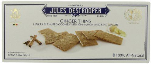 Jules Destrooper Ginger Thins, 3.35-Ounce Boxes (Pack of 12) by Jules (Jules Destrooper Ginger Thins)