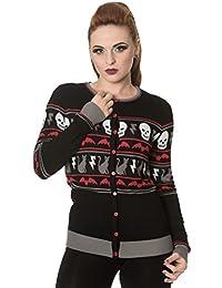 Banned - MYSTICAL NIGHT - Women's Long Sleeve Fine Knit Cardigan, Jumper