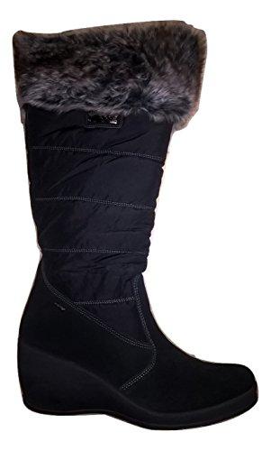 IGI CO 58001 Woman Suede Black Canvas Boots 40 QzAdAm9D