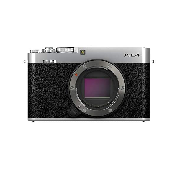 RetinaPix Fujifilm X-E4 Mirrorless Camera Body Only - Silver (Compact Body, X-Trans CMOS 4 Sensor, Fast AF, Face/Eye AF, 180° Tilting LCD Screen, EVF, 4K Video, Film Simulation Modes)