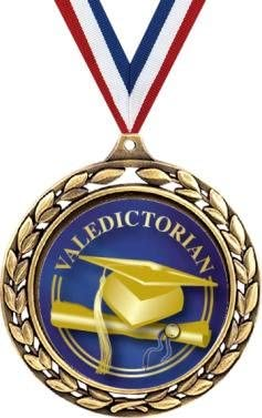 "クラウンAwards 2.5 "" Valedictorian Laurel Wreath卒業式Medals Prime"