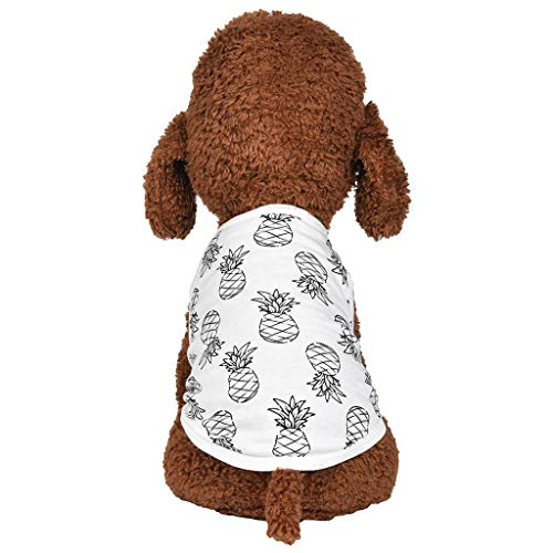 khdug❤ Pet Dog & Cat Shirt, Breathable Small Dog Cat Thin Clothing,Vest Cute for Small Dog Cats Puppy Cool Summer Custom,Tee Vest Casual Clothing