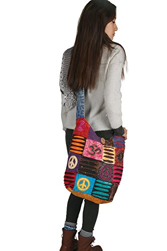 Azure tracolla Tribe Borse donna Trade in cotone Fair Blu a per gtdxXqrdnw