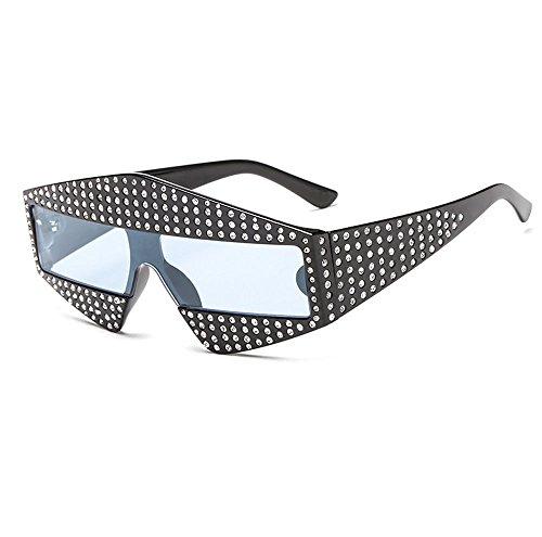 box Black prueba de Champagne gafas personalidad gafas de y ZHANGYUQI los Unidos siameses viento champagne diamantes sol Estados de Color sol Europa moda gafas mosaico de blue de sol a de de box g8qwfA