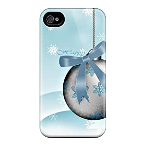 TKfbpXM2304aVOSc Tpu Phone Case With Fashionable Look For Iphone 4/4s - Happy Holidays Illustration