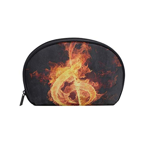 - Toiletry Bag Fire Violin Key Music Note Abstract Womens Beauty Makeup Case Brush Cosmetic Organizer