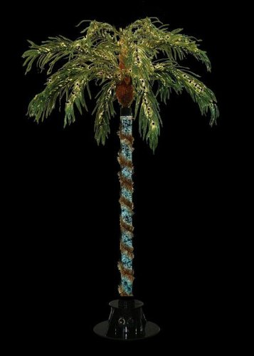 Sterling 6' Pre-Lit Color Changing Novelty Bubble Palm Tree - Clear Lights