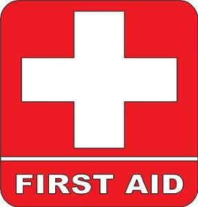 Amazon.com: First aid Kit Emergency Symbol Logo sticker Picture ...