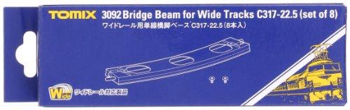 TOMIX Nゲージ ワイドレール用 単線橋脚ベースC317-22.5 8本入 3092 鉄道模型用品