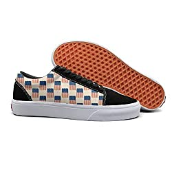 Pdaqs 4th Of July American Flag Patriotic Yellow Women Canvas Shoes Oldskoo Slip On Shoes Low Top