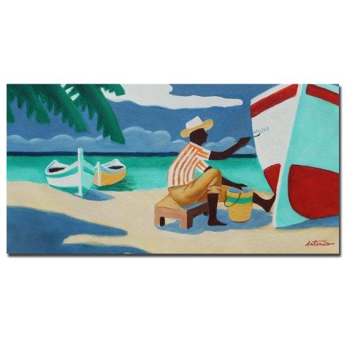 Trademark Fine Art Antigua by Master's Art, 16x32-Inch Canvas Wall Art