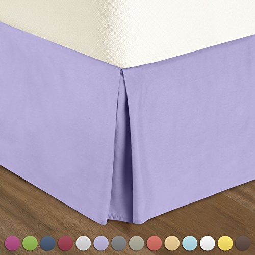 Pleated Bed-Skirt Queen Size – Lavender  Luxury Double Bru