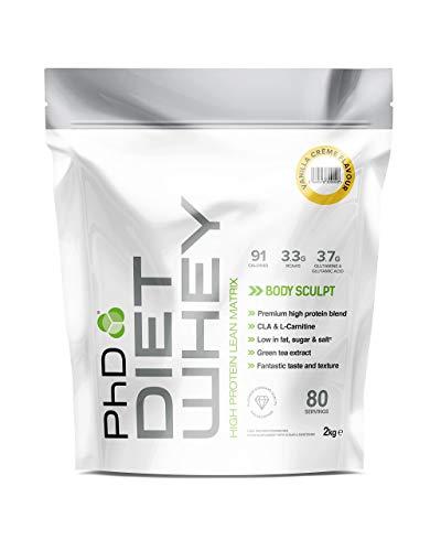 PhD Nutrition Diet Whey Protein Powder, 2 kg, Vanilla Cream