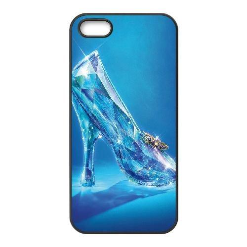 Cinderellaost Shoe coque iPhone 5 5S cellulaire cas coque de téléphone cas téléphone cellulaire noir couvercle EOKXLLNCD22880