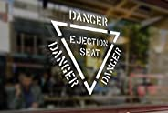 25 Centimeters Danger Ejection Seat Warning Vinyl Stickers Funny Decals Bumper Car Auto Computer Laptop Wall W