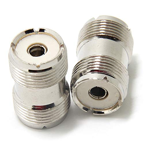 (Ancable UHF PL-259 Female to UHF PL-259 Female Coaxial Adaptor Connector Coupler Joiner for CB Ham Radio Antenna Pack of 2)