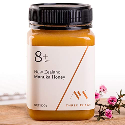 Flourish Trio - Three Peaks Manuka Honey New Zealand - Certified UMF 8+ - 17.6 oz (500gm) - 100% Natural honey, Raw honey - Ultra Premium, Healing Manuka honey