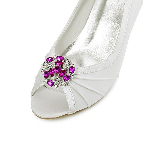 ElegantPark AM Damen Kristall Kleider Handtasche Hute Schuh Clips Rosa 2 Stücke