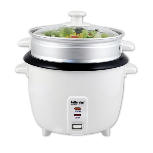 Better Chef IM-405ST 5-Cup Rice Cooker w/ Food Steamer