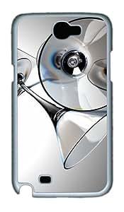 Martini Glasses Custom Samsung Galaxy Note 2/ Note II / N7100 Case Cover ¿C Polycarbonate ¿C White