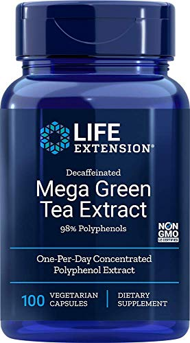 Life Extension Mega Green Tea Extract (98% Polyphenols) Decaffeinated
