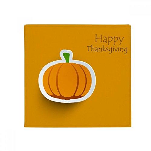 DIYthinker Thanksgiving Day Pattern Cartoon Pumkin Anti-Slip Floor Pet Mat Square Home Kitchen Door 80cm -