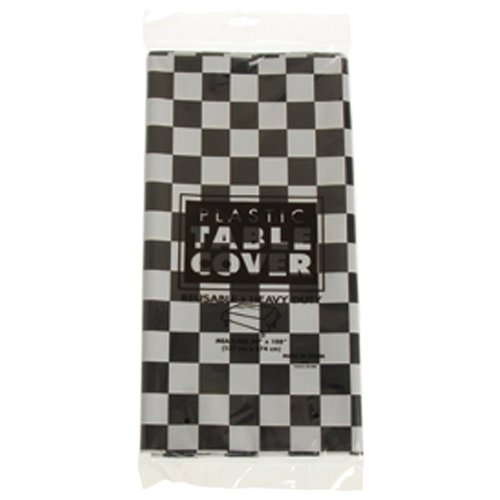 (Plastic Checkered Tablecover,54