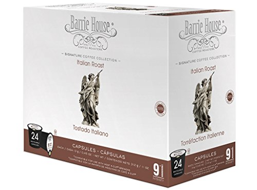 Barrie House Italian Roast Single Cup Capsule, 24 Count, 11 oz