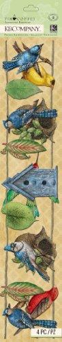 (K&Company Tim Coffey Foliage - Adhesive Borders - Garland - 4 pcs)