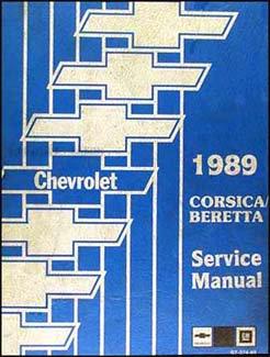 1989 Chevy Corsica and Beretta Repair Shop Manual Original