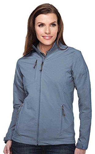 Tri-mountain Women 96% polyester 4% Spandex Dobby Full zip jacket - SLATE BLUE - XX-Large
