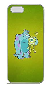 iPhone 5S Case, iPhone 5S Cases - Lightweight Protective Crystal Clear Case Cover for iPhone 5/5s Mike And James Monsters University Perfect Fit Clear Back Bumper Case for iPhone 5/5S