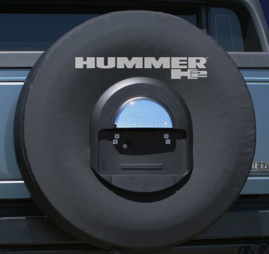 Boomerang 2005-2010 Hummer H2 Soft Decorative Spare Tire Covers – Non-Reflective Logo – Genuine GM Licensed