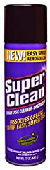 You've got the power of SuperClean at the tip of your finger. Cut through grease, wax, and gunk with the fast-acting SuperClean Aerosol Cleaner-Degreaser. Our heavy-duty, multi-purpose aerosol spray degreaser and cleaner dissolves gunk and gr...