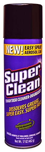 Foaming Aerosol, Tough Task Cleaner and Degreaser, Biodegradable & Phosphate Free, By Super Clean 17oz