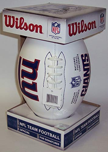 New York NY Giants - Wilson NFL 4 White Panel Autograph Model Full Size Football - F1193 - New in Wilson Box from Creative Sports