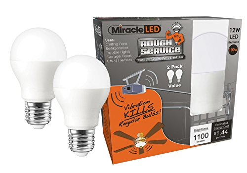 MiracleLED 606761 Rough Service LED 100W Household Replacement Garage Door/Shop/Fan Light Bulb...