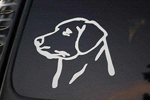 Labrador Sticker Chocolate (Labrador Dog Vinyl Sticker Decal (V111) (White))