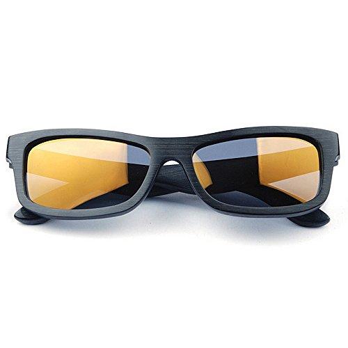 de hombres sol los de lente Gafas deportes de polarizadas del gafas la Adult alta Protección a de calidad madera de de los mano Eyewear hechas color protecció TAC la pequeña de de cuadrada de azul sol R7q6f