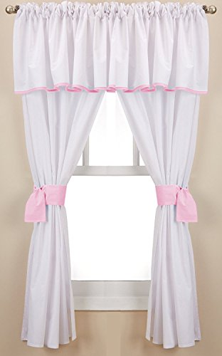 Baby Doll Bedding Forever Mine Junior 5 Piece Window Valance Curtain Set, (Forever Baby Doll)