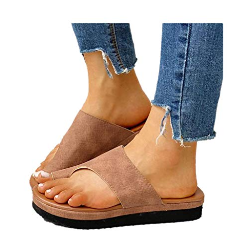 Dressin Women's Sandals 2019 New Women Comfy Platform Sandal Shoes Summer Beach Travel Shoes Fashion Sandal Ladies - Open Thong Embroidered