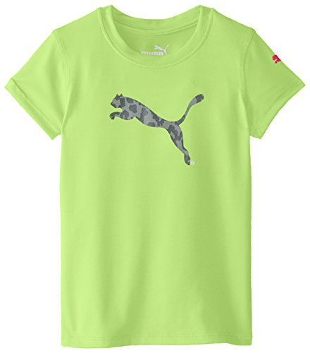 PUMA Toddler Girls' Short Sleeve Core Tee Shirt, Kite Green, 2T